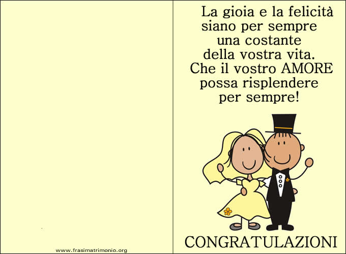 Immagine auguri di matrimonio auguri di matrimonio for Immagini auguri 25 anni matrimonio