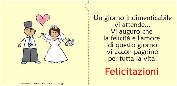 Frasi Auguri Matrimonio Simpatiche : Biglietto matrimonio felicitazioni i migliori biglietti
