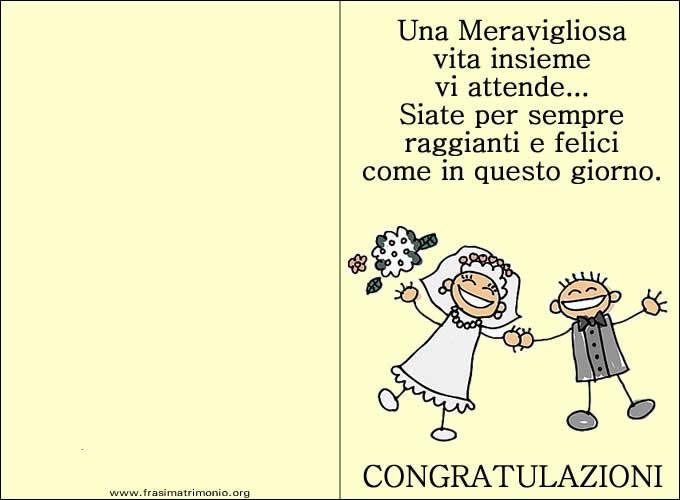 Biglietti Auguri Matrimonio Divertenti : Immagine frasi auguri matrimonio