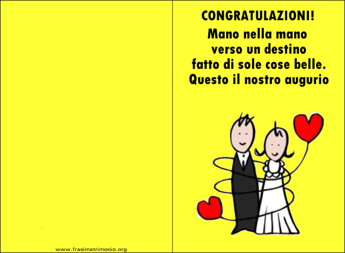 augurio matrimonio ad amica