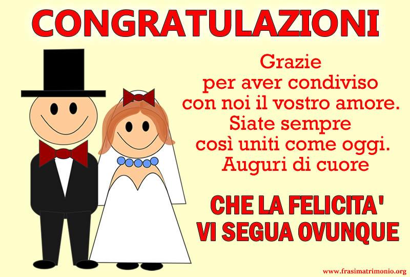 Frasi Matrimonioorg.Immagine Frasi Matrimonio Da Dedicare Biglietto Congratulazioni